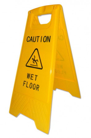 "Caution Board - mit Druck ""Caution -Wet floor"""
