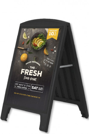 Compact Plast A-board, A1, schwarz