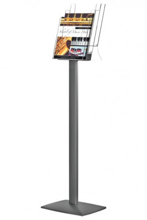 Pillar Leaflet Dispenser 3xA4