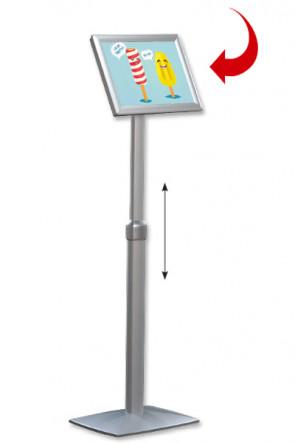 Adjustable Infoboard Flex, A4 Gehrung