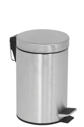 Pedal Trash Can, 5 L - Silver