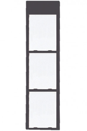 Info Module Board 3xA4 Charcoal, RAL 7016