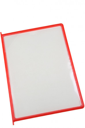 Poster Pockets for Reference Racks - 10 pcs. - Red
