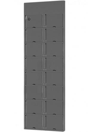 Info Module Board 16xA6 - Charcoal, RAL 7016