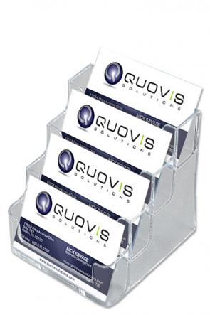 Visitenkartenhalter x 4 transparent