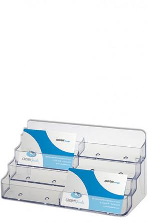 Visitenkartenhalter x 8 transparent