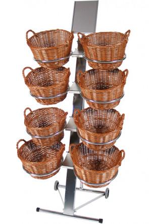 Shop Display mit 8 runde Körben