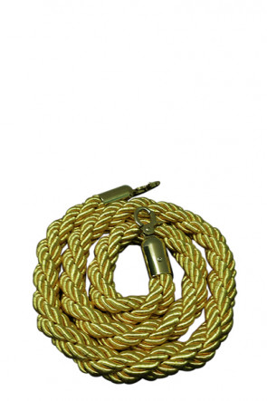 Crowd control rope,  Gold.  - Gold fixing