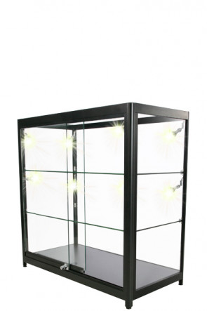 Showcase Counter, Duo - Schwarz. LED