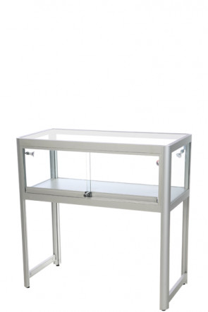 Showcase Desk, Duo - Silber. LED