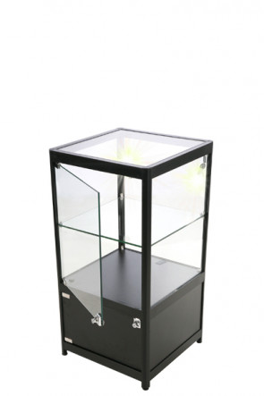 Showcase Counter, Solo, mit Schrank - Schwarz. LED