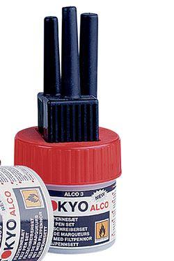 TOKYO ALCO 3 Filzschreibersatz Rot