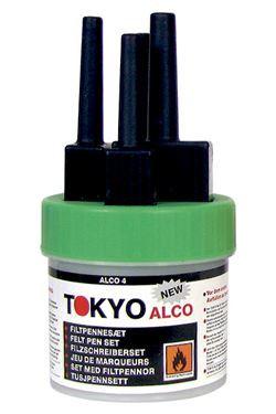 TOKYO ALCO 3 Filzschreibersatz Grün
